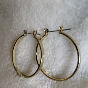 Hoop Earrings - Gold Tone